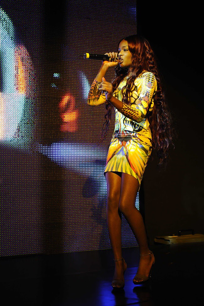 b Azealia Banks in Just Cavalli SS13 performing @ Just Cavalli Boutique Opening 21-09-2012 Milan (1)