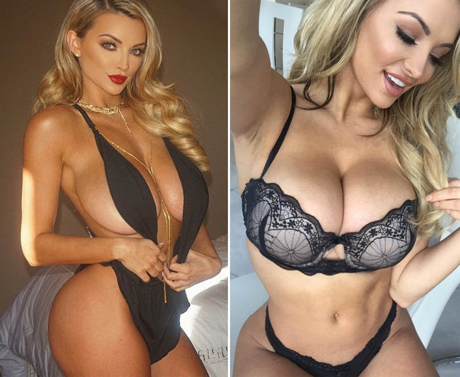 Lindsey Pelas shows off her sexy curves