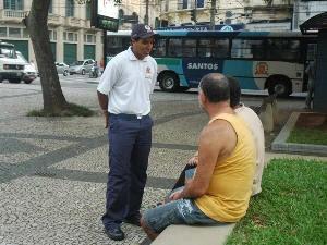 Guardião Cidadão em Santos (Foto: Divulgação/Prefeitura de Santos)