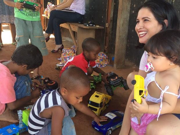 Projeto Mamas da Solidariedade, Goiânia, Goiás (Foto: Paula Resende/ G1)