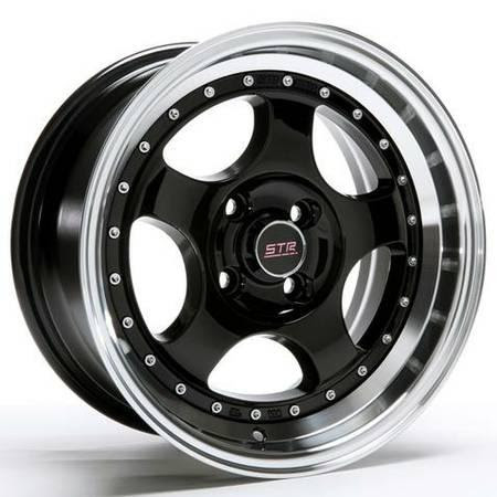 ... Str 15 Rims 4x100 4x114 3 Lime Green Wheels Honda Civic Accord Sedan