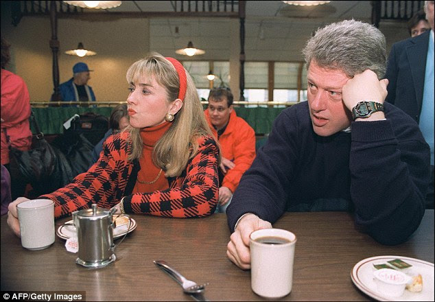 Spilling the beans:A fixer who claims they worked with Hillary and Bill Clinton from 1991 through 2008 has given an interview to the National Enquirer (couple above in 1992)