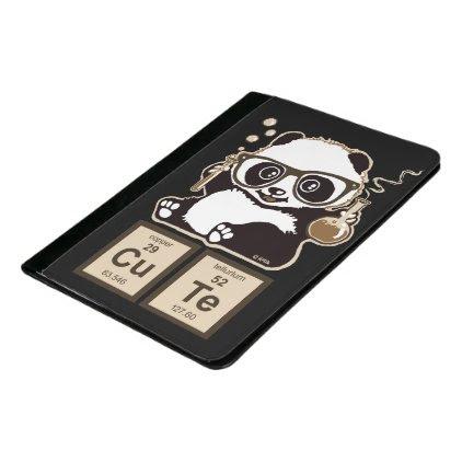 Chemistry panda discovered cute padfolio