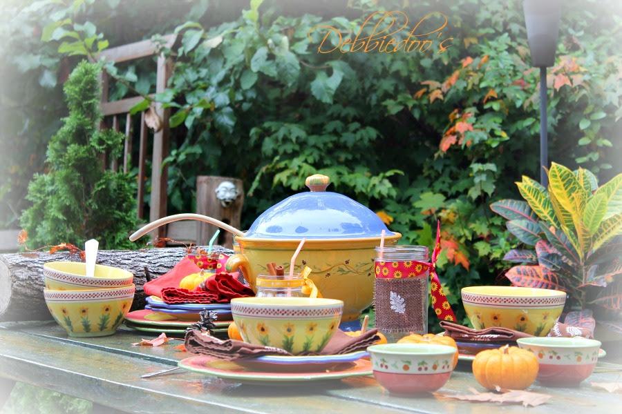 Tablescape with #Pfaltzgraff anniversary dishes