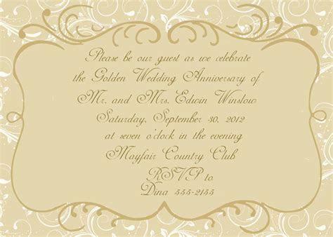 Free 50th Wedding Anniversary