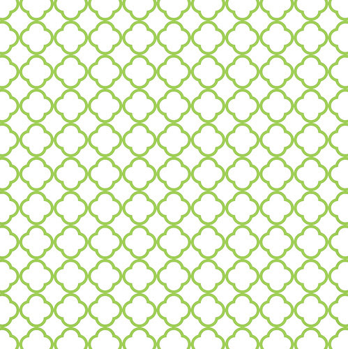 8 green apple QUATREFOIL OUTLINE melstampz
