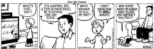 One Big Happy Comic Strip