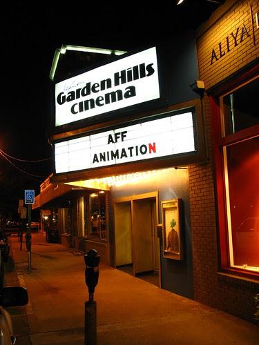 Animation Extravaganza: Marquee at night