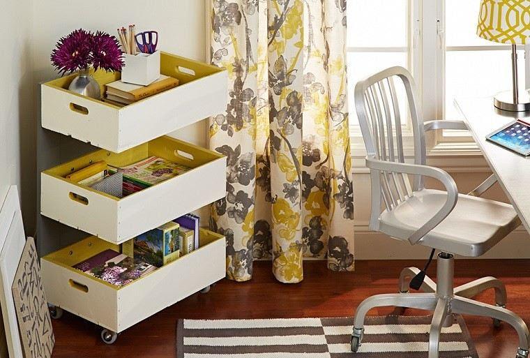 ruedas caja frutas blancas amarillo