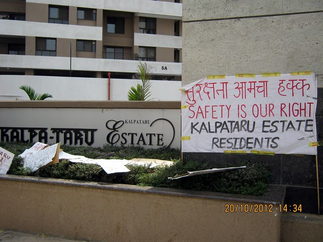 """""""Safety is Our Right,"""" Residents of Kalpataru Estate, Pimple Gurav, Pune 411061"""