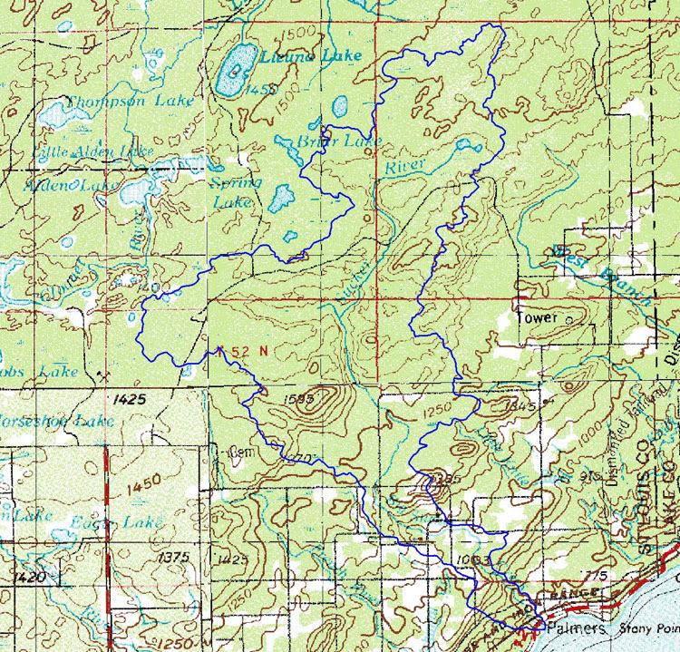 Lakesuperiorstreams Sucker River Maps
