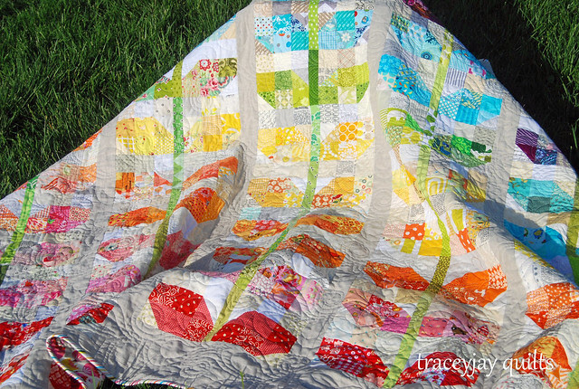 Scrappy Sprouts quilting