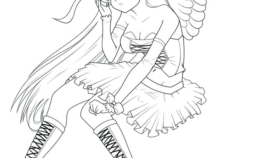 Anime Coloring Pages For Adults Coloring Pages 2019