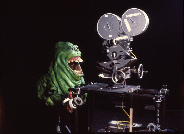 Slimer going for his close-up in Ghostbusters.