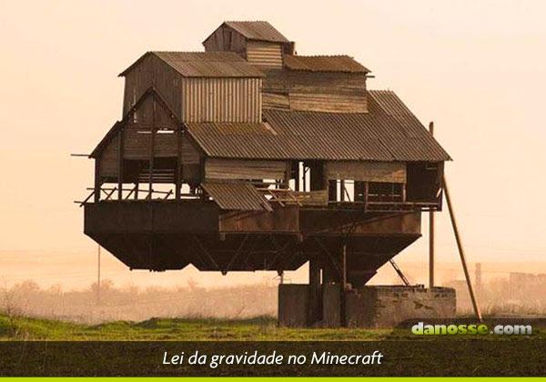 Lei da gravidade no minecraft