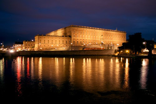 Stockholm Royal Castle by night
