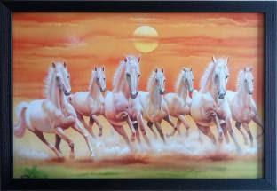 Beautiful Vastu Shastra 7 White Horses Running Wallpaper Hd Images