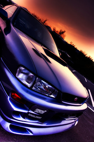 Sundown on my car in HDR