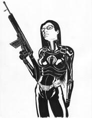 GI Joe: Baroness ink work