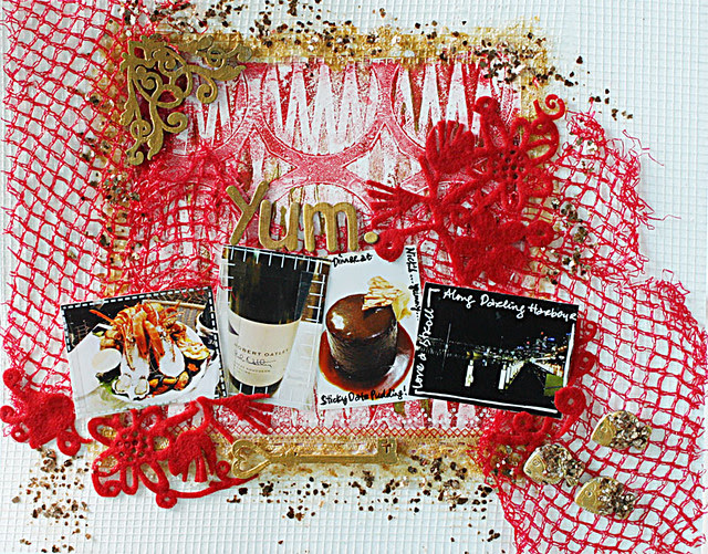 Yum-mixed-media-layout
