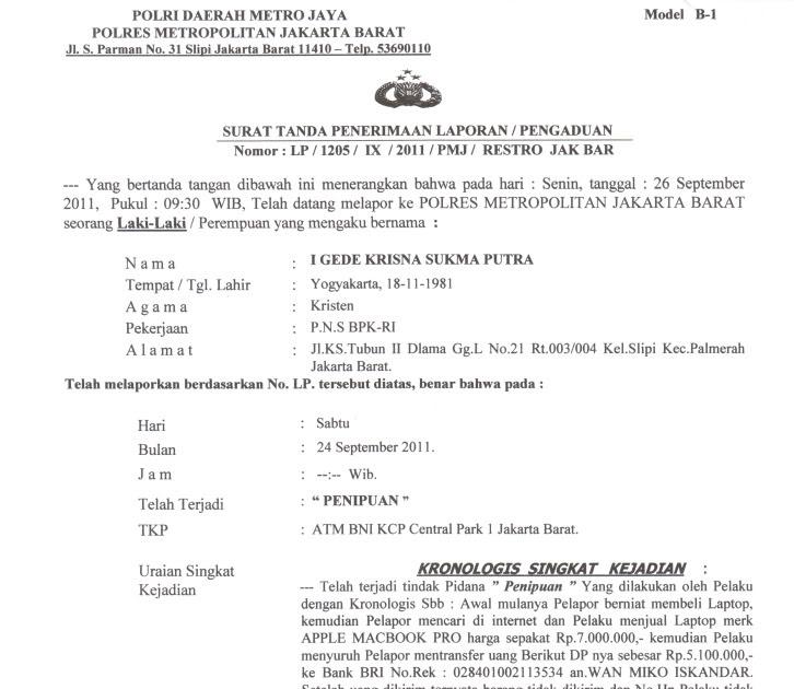 17 Info Download Surat Laporan Penipuan Pdf Doc Zip