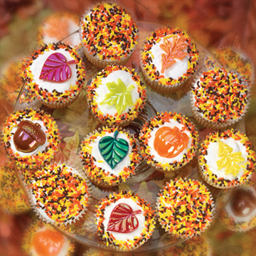 Thanksgiving cupcakes from Mrs. Beasley's
