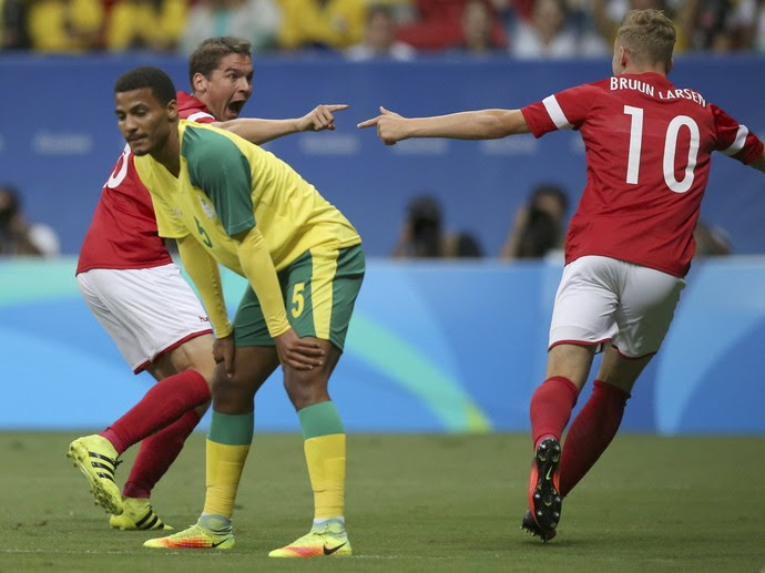 Jacob Bruun-Larsen gol Dinamarca África do Sul (Foto: Reuters)