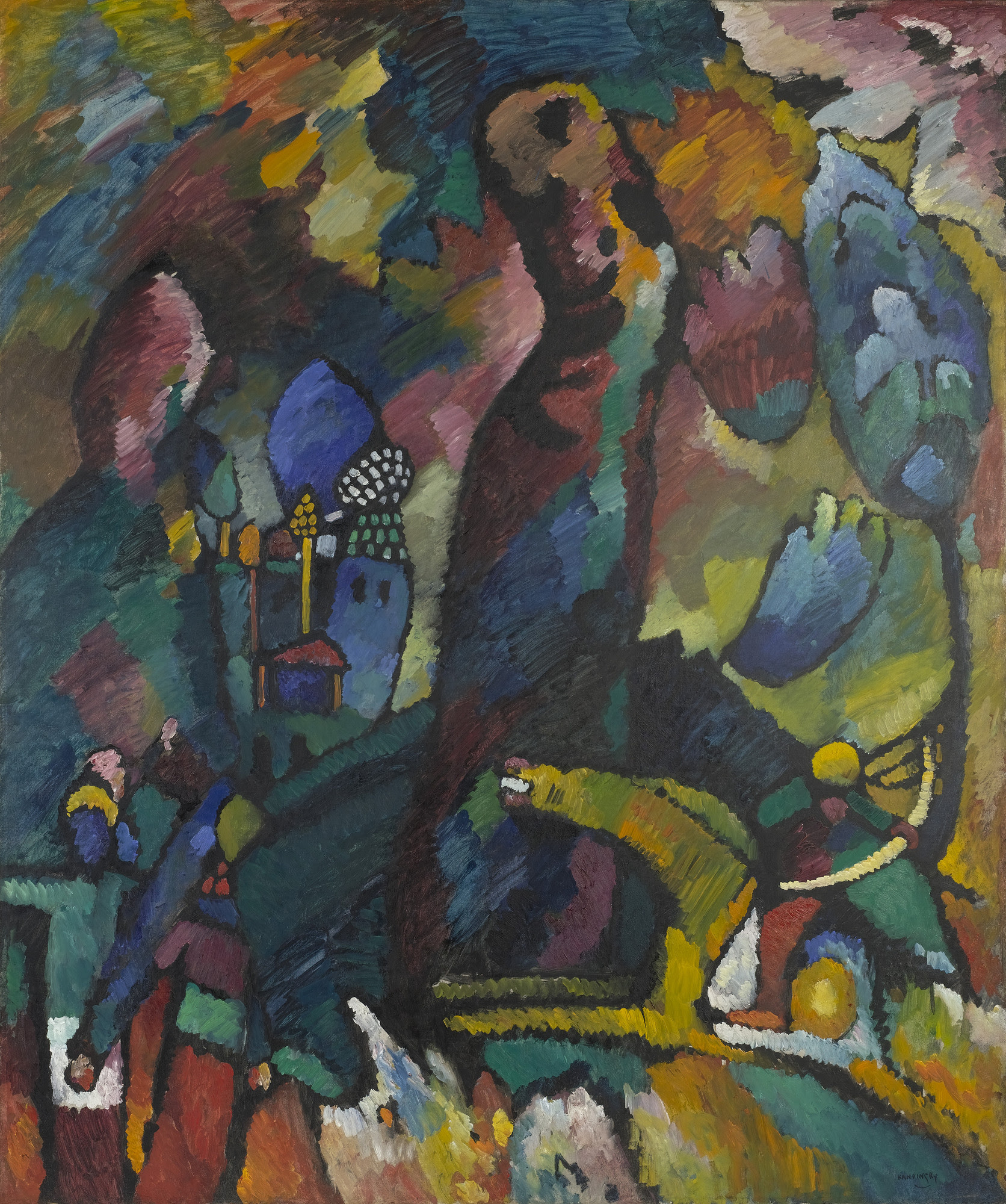 Vasily Kandinsky Picture With An Archer 1909 Moma