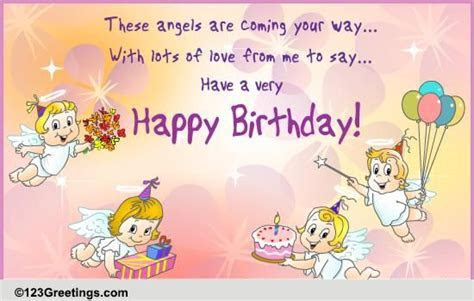 Birthday Angels! Free Birthday Wishes eCards, Greeting