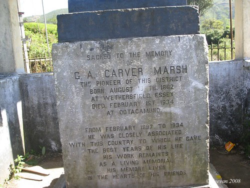 G.A. Carver Marsh's foot note