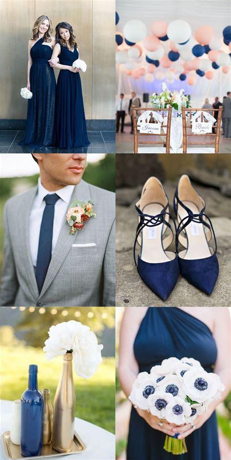 Navy blue inspiration board! Navy bridesmaid dresses