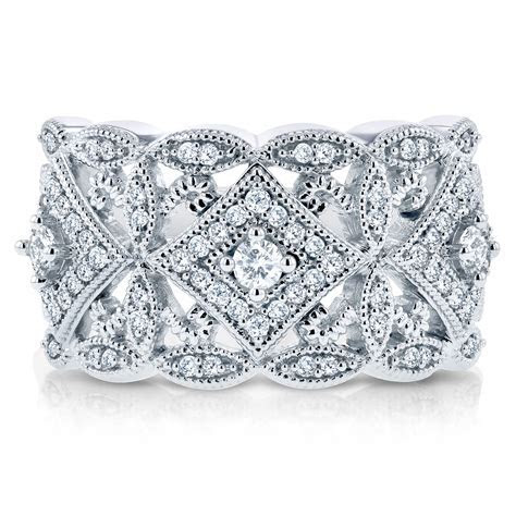 Annello by Kobelli 10k White Gold 1/2ct TDW Diamond