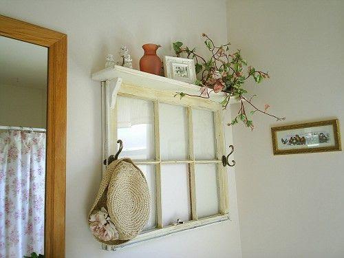 Old window with added shelf