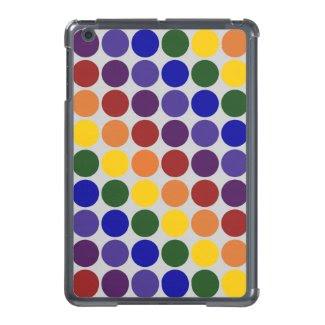 Rainbow Polka Dots On Grey iPad Mini Case