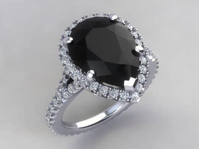 11 Bold Black Gemstone Rings ? Onyx, Sapphire, and More