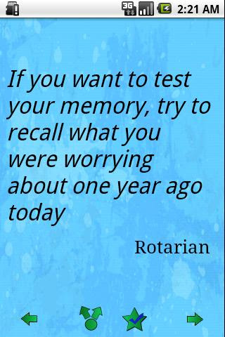 If You Want To Test Your Memorytry To Recall What You Were Worrying