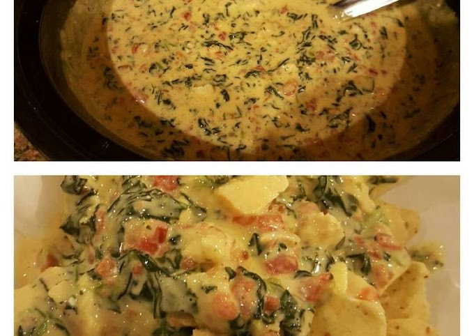 Step-by-Step Guide to Prepare Quick Cheesy Spinach Bacon Grilled Chicken Dip