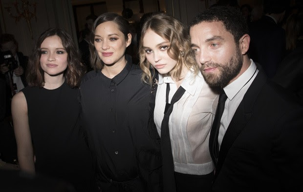 Marilyn Lima, Marion Cotillard, Lily-Rose Depp e Guillaume Gouix (Foto: Francois Durand/Getty Images)
