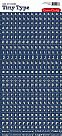 Tiny Type- TT578- מדבקות כחול