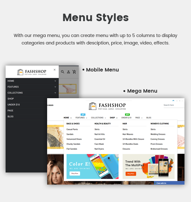 Multipurpose Sectioned Drag & Drop Bootstrap 4 Shopify Theme