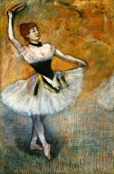 Edgar Degas - Bailarina con tamboril