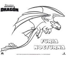 Dibujos Para Colorear Furia Nocturna Eshellokidscom