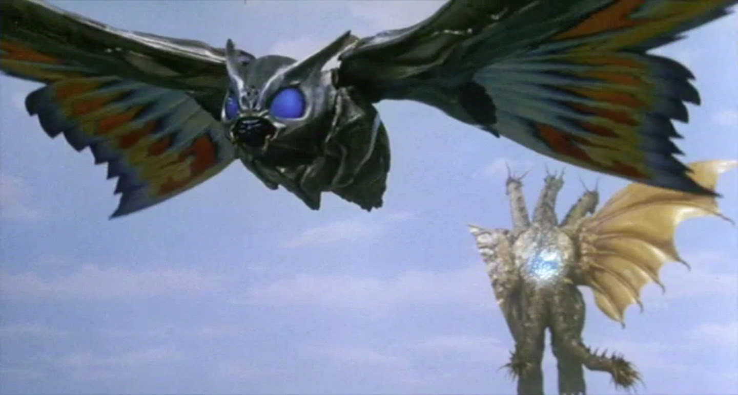 How Ghidorah actually flying with only one wing?!