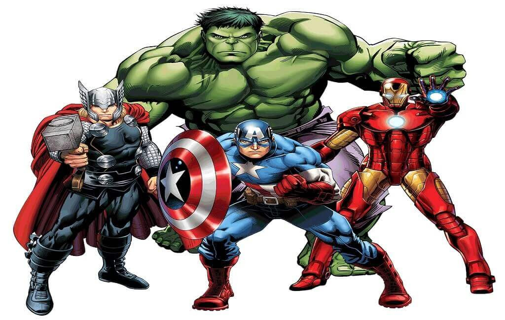 Marvel Avengers Coloring Pages For Kids Drawing With Crayons