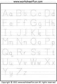 Printable Alphabet Tracing Worksheets A Z