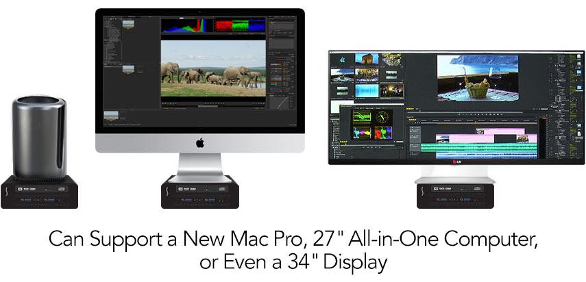 Puede soportar una Pro Nuevo Mac, 27 'All-in-One PC, o incluso un 34' Pantalla