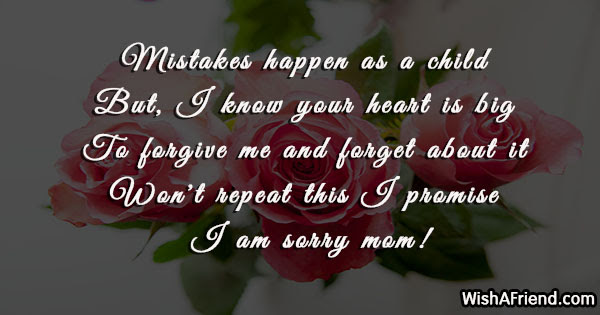 I Am Sorry Messages For Mom