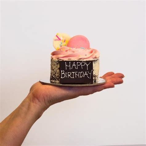 Pink Mini Mud Birthday Cake