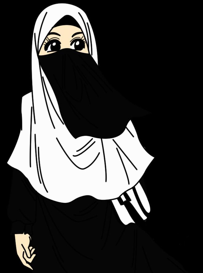 Wallpaper Kartun Muslimah Hitam Putih - Gallery Islami Terbaru