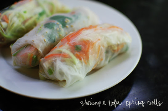 shrimp and tofu spring rolls